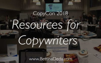 CopyCon 2018: Resources Every Copywriter Should Know