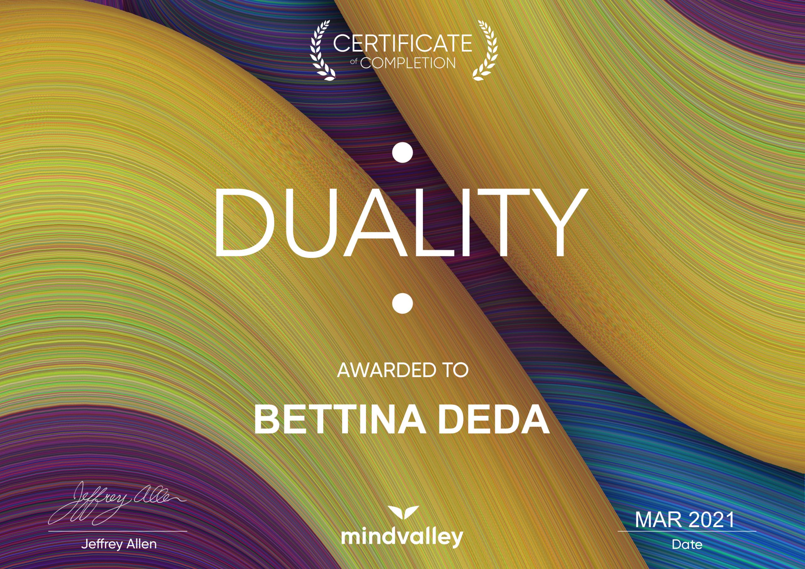 Duality, mindvalley, energy healing with Jeffrey Allen